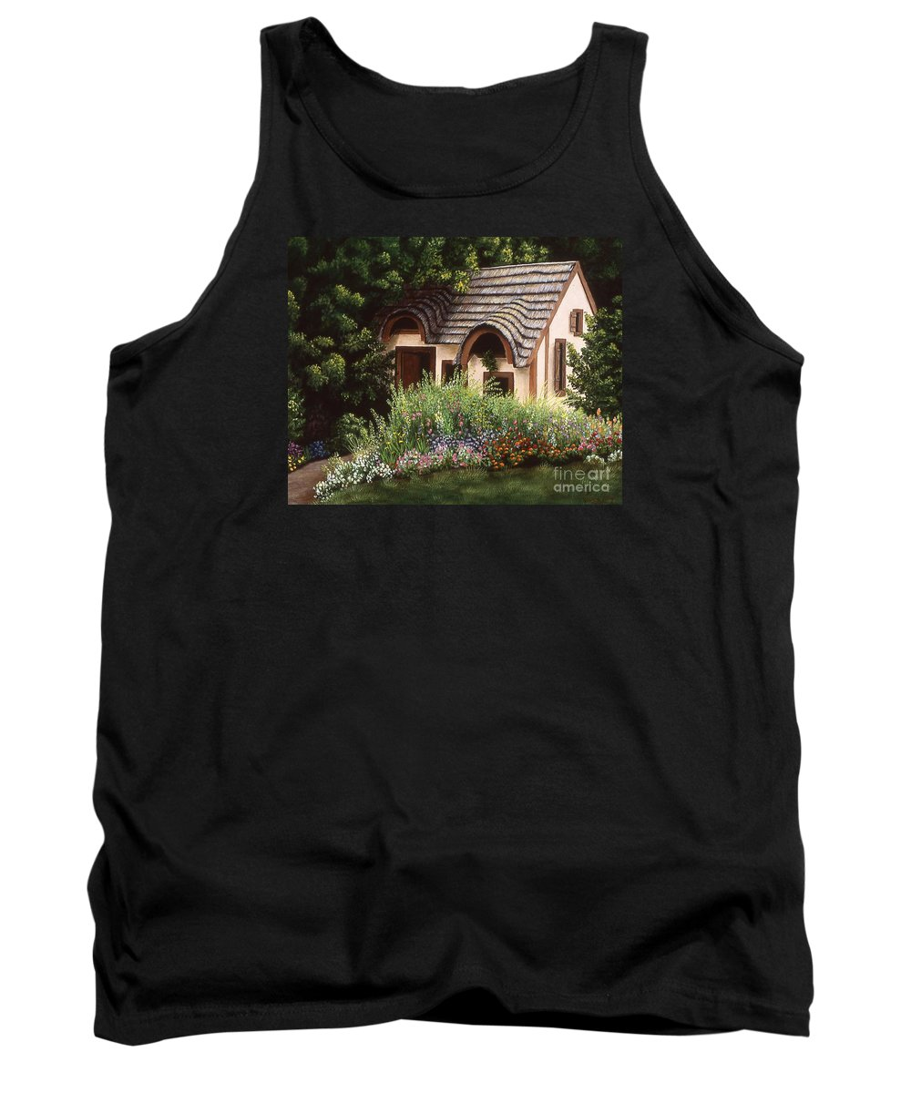 Landscape Tank Top featuring the painting Country Charm by Susan Jump