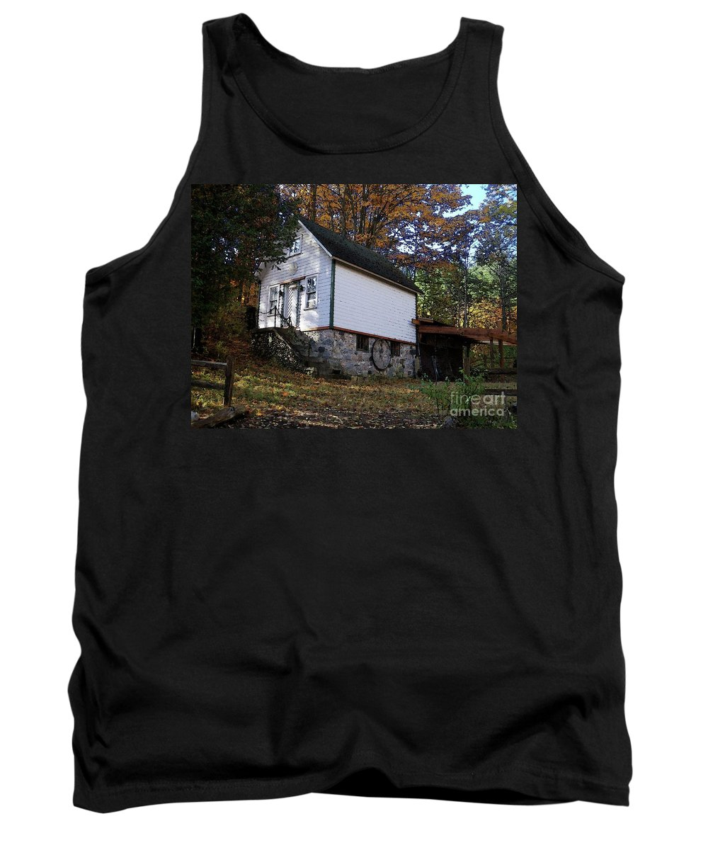 Country Cottage Tank Top featuring the photograph Country Cottage In Autumn by Desiree Paquette