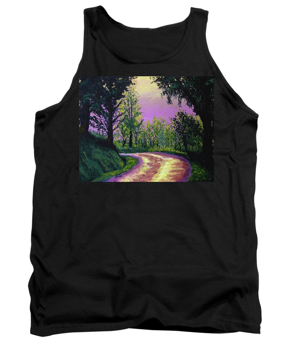 Landscape Tank Top featuring the painting Country Road by Stan Hamilton