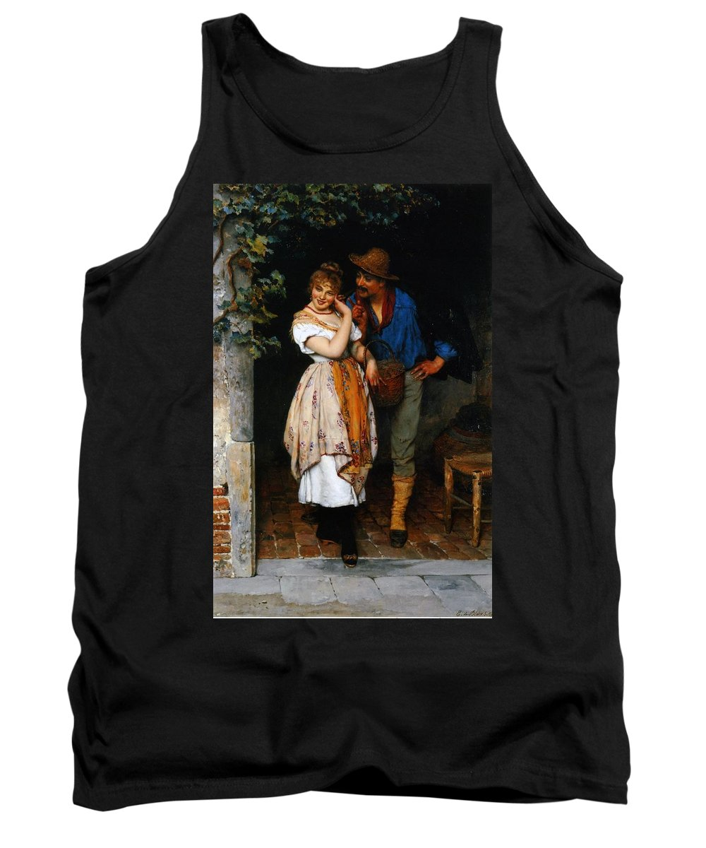 Couple Tank Top featuring the painting Couple Courting by Eugen von Blaas