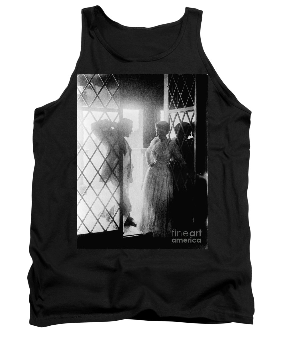 19th Century Tank Top featuring the photograph Couple In Doorway by Granger
