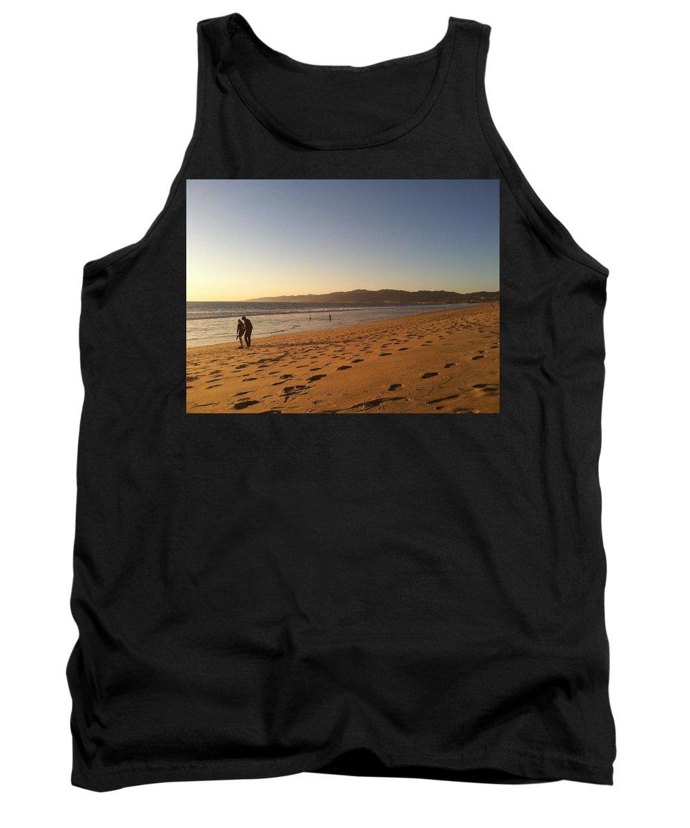 Venice Tank Top featuring the photograph Couple On Venice Beach by Kenn Eden