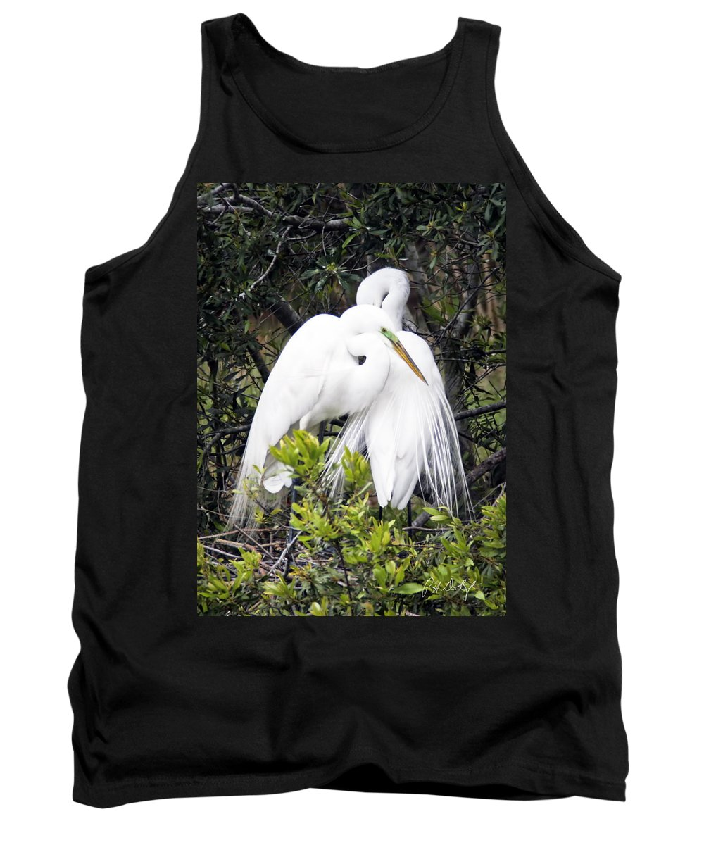 Beaufort County Tank Top featuring the photograph Courting by Phill Doherty
