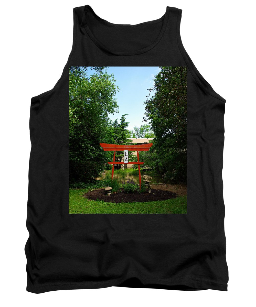 Scenery Tank Top featuring the photograph Courtyard by Scott Wyatt