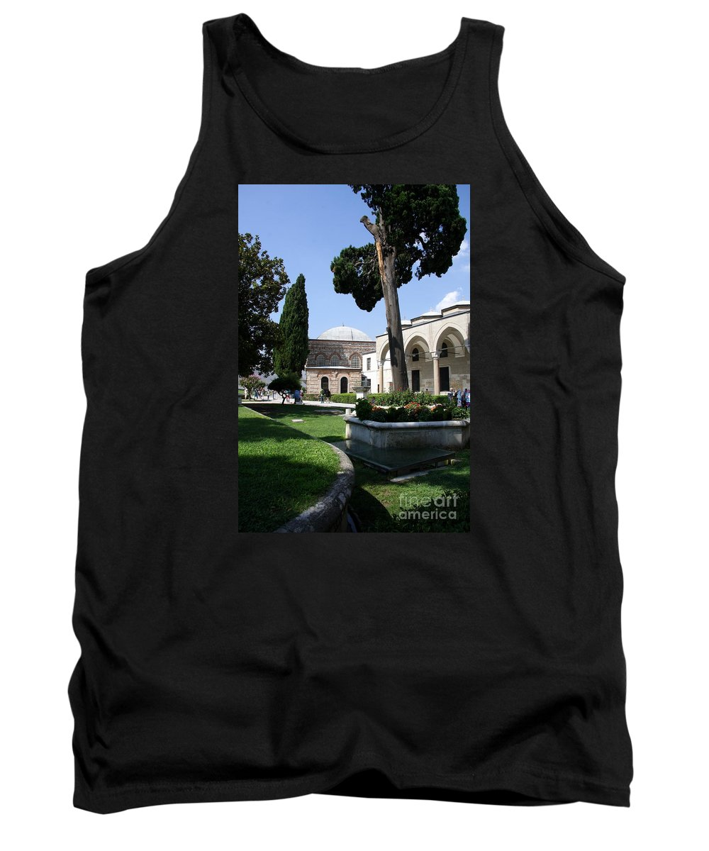 Courtyard Tank Top featuring the photograph Courtyard Topkapi Palace - Istanbul by Christiane Schulze Art And Photography