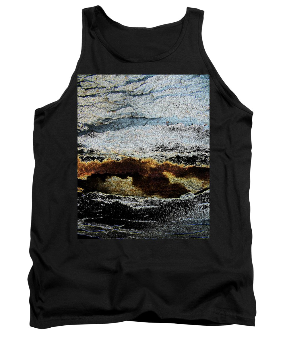 Abstract Tank Top featuring the photograph Crater Island by Lenore Senior