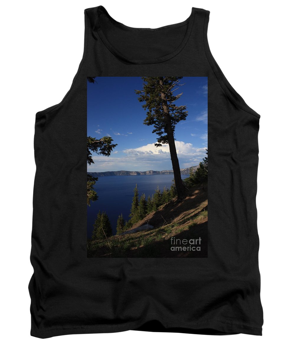 Landscape Tank Top featuring the photograph Crater Lake 7 by Carol Groenen