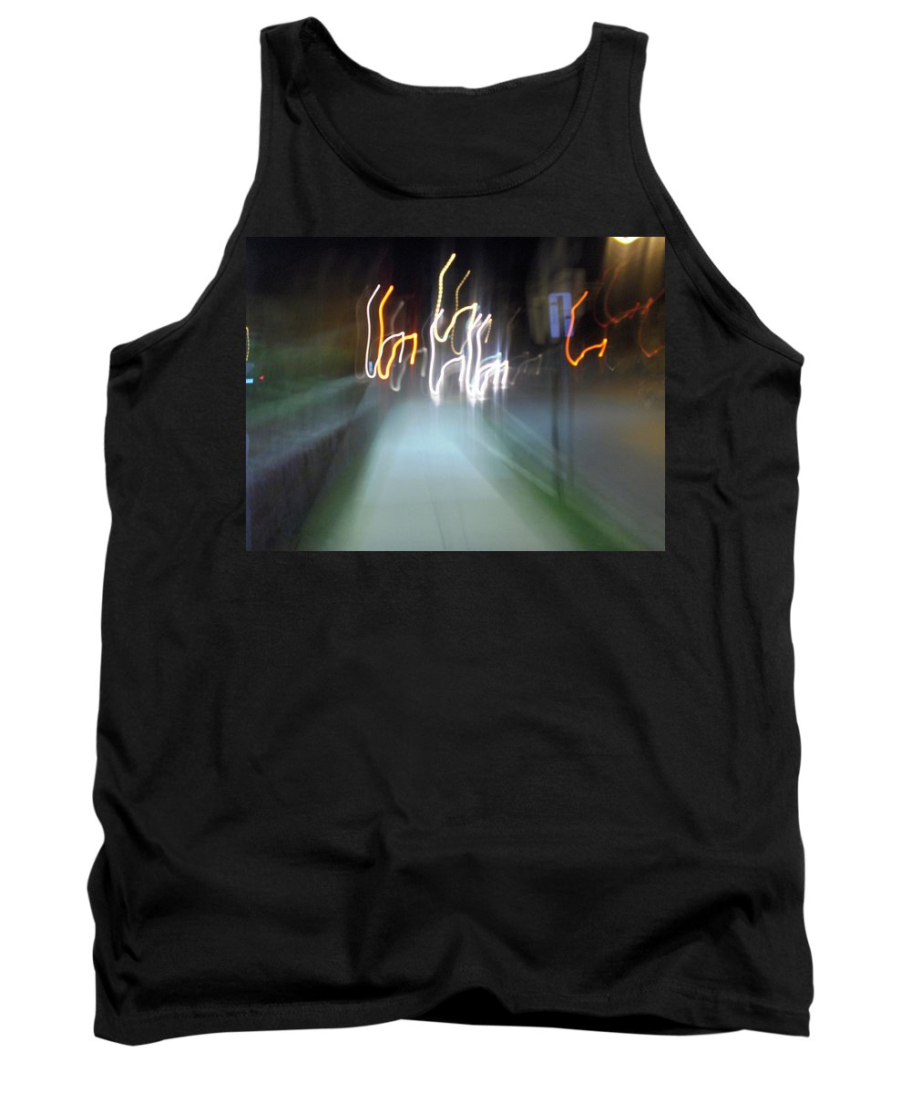 Photograph Tank Top featuring the photograph Crazy Lights by Thomas Valentine