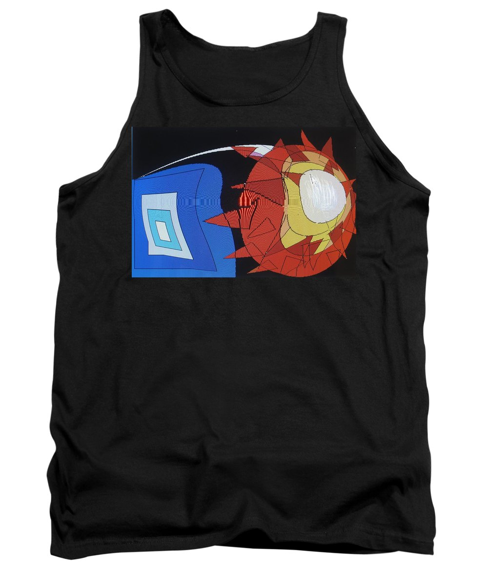 Abstract Tank Top featuring the digital art Crescendo One by Ian MacDonald