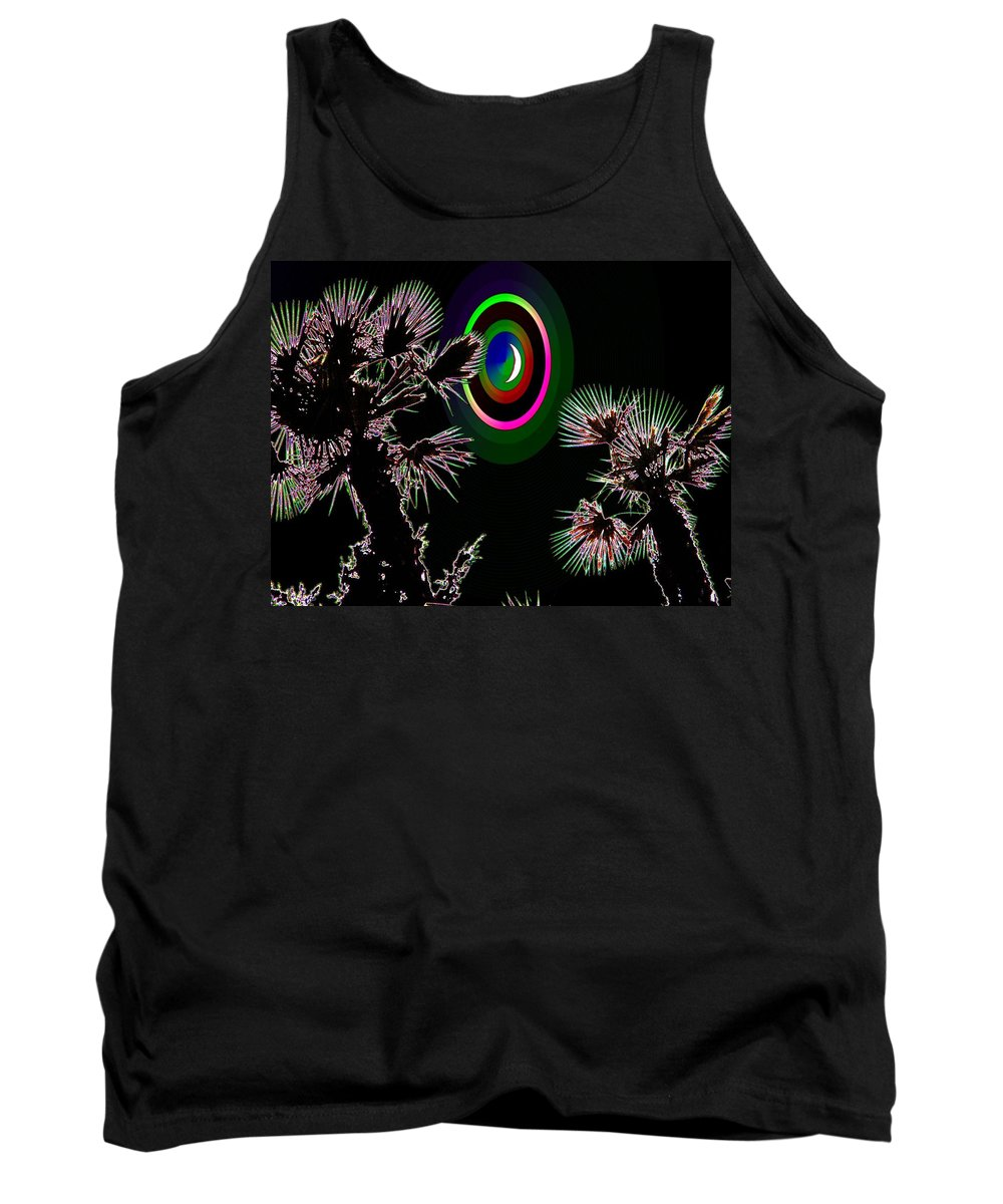 Crescent Tank Top featuring the photograph Crescent And Palms 3 by Tim Allen