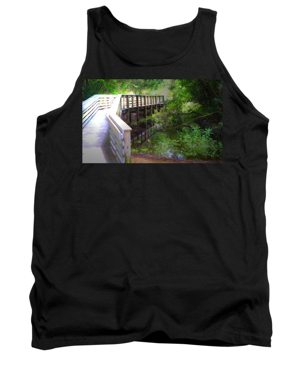 Tamvision Tank Top featuring the photograph Crossing Over I by Tamivision
