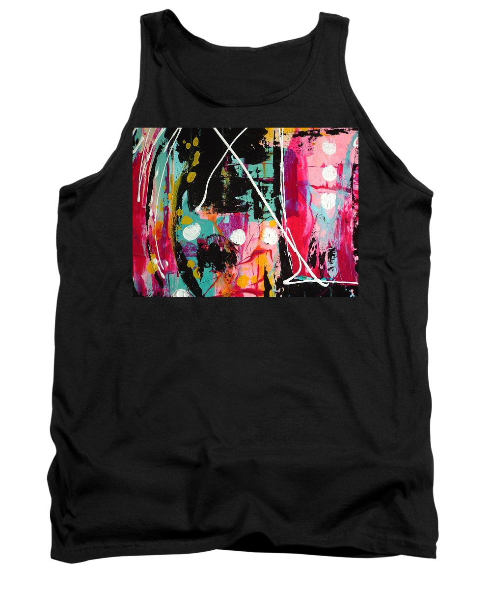 Abstract Tank Top featuring the painting Crossing Time by Kathy Augustine