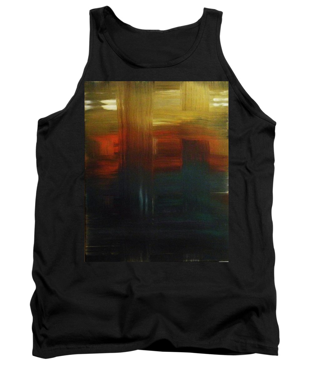 Abstract Tank Top featuring the painting Crossroads by Todd Hoover