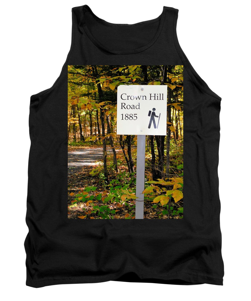 Crown Hill Road 1885 Tank Top featuring the painting Crown Hill Road 1885 by Jeelan Clark