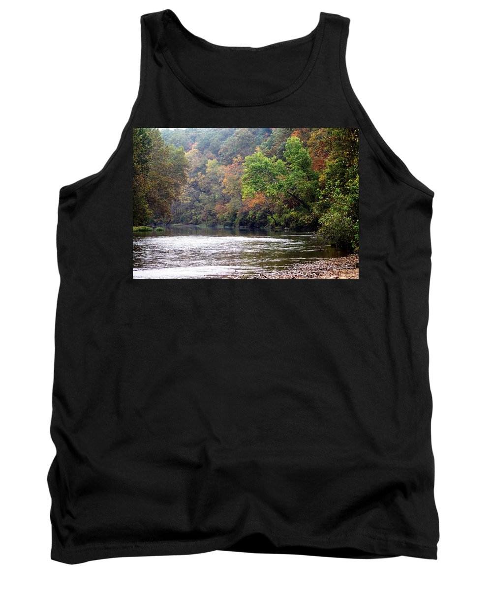 Current River Tank Top featuring the photograph Current River Fall by Marty Koch