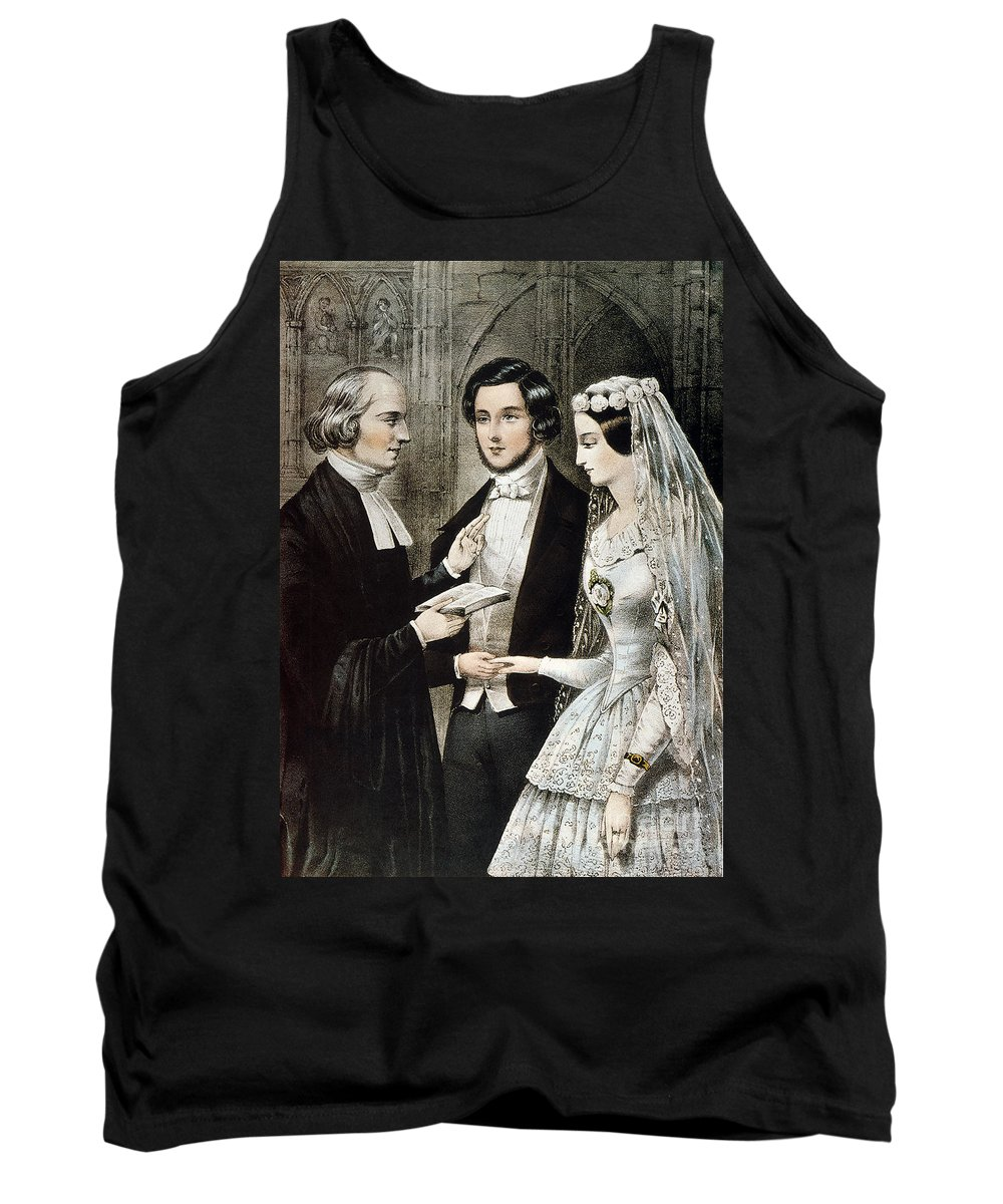 1847 Tank Top featuring the photograph Currier: The Marriage by Granger