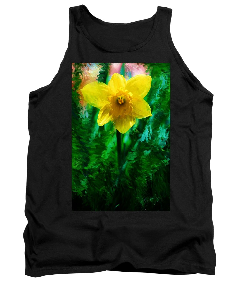 Abstract Tank Top featuring the photograph Daffy Dill by David Lane