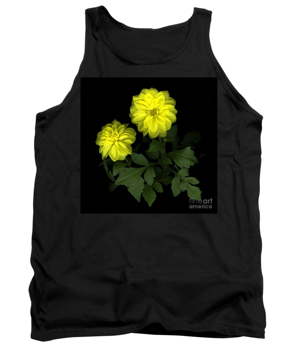 Yellow Tank Top featuring the photograph Dahlia by Christian Slanec