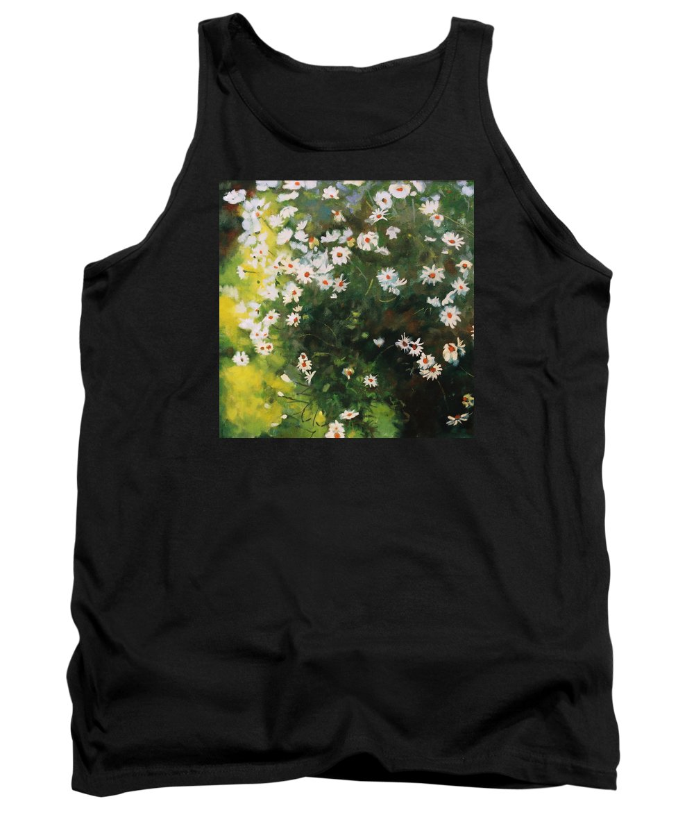 Daisies Tank Top featuring the painting Daisies by Iliyan Bozhanov