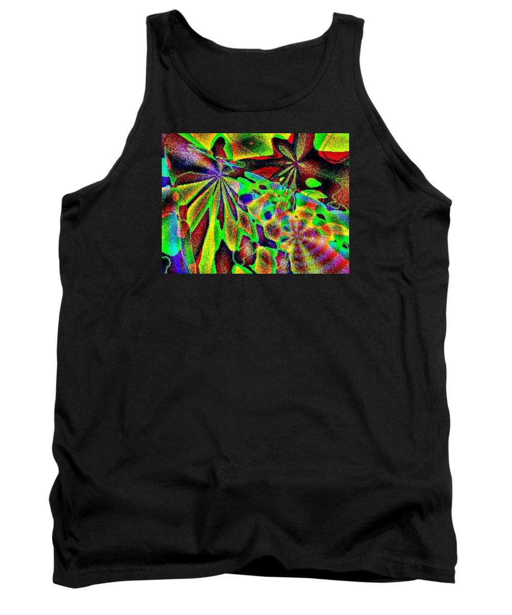 Computer Art Tank Top featuring the digital art Damselwing by Dave Martsolf