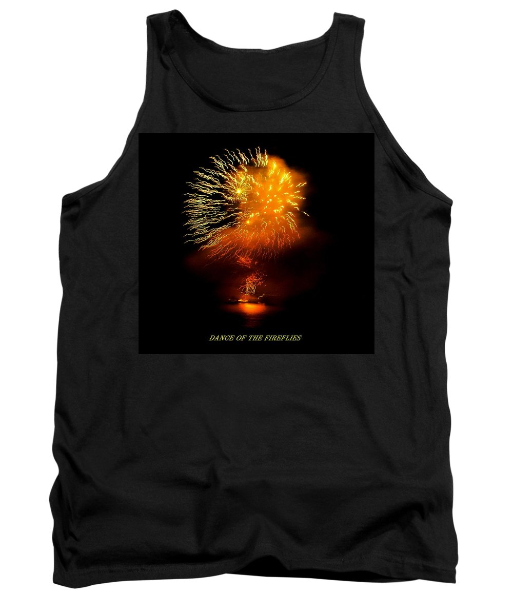 Fireworks Tank Top featuring the photograph Dance Of The Fireflies by Kendall Eutemey
