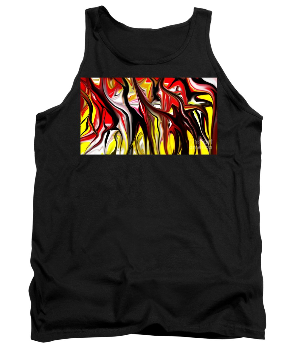 Abstract Tank Top featuring the digital art Dance Of The Sugar Plum Faries by David Lane