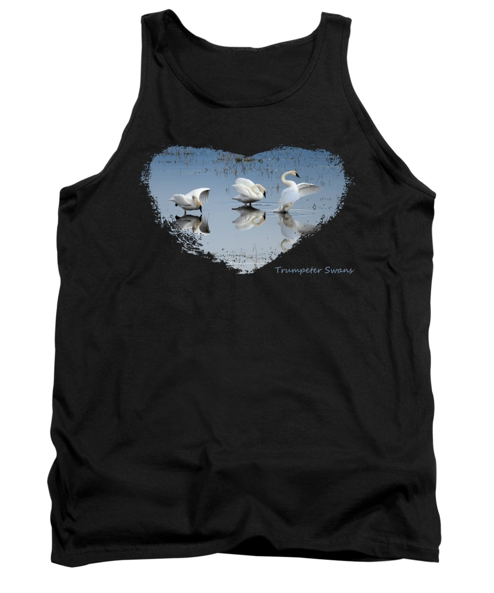 Waterfowl Tank Top featuring the photograph Dance Of The Trumpeters 4 by Whispering Peaks Photography