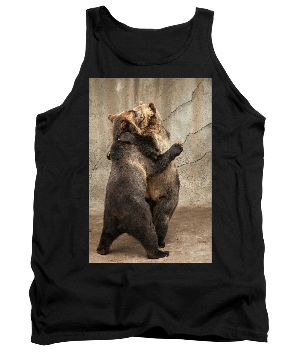 Animals Tank Top featuring the photograph Dancing Bears by Stewart Helberg