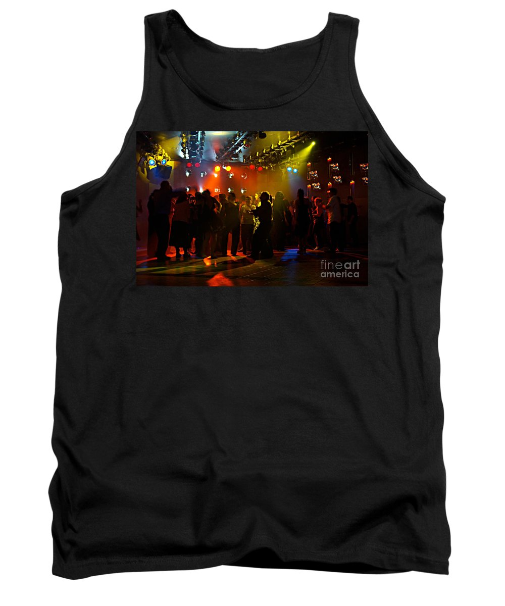 Dance Tank Top featuring the photograph Dancing To The Music by Zal Latzkovich