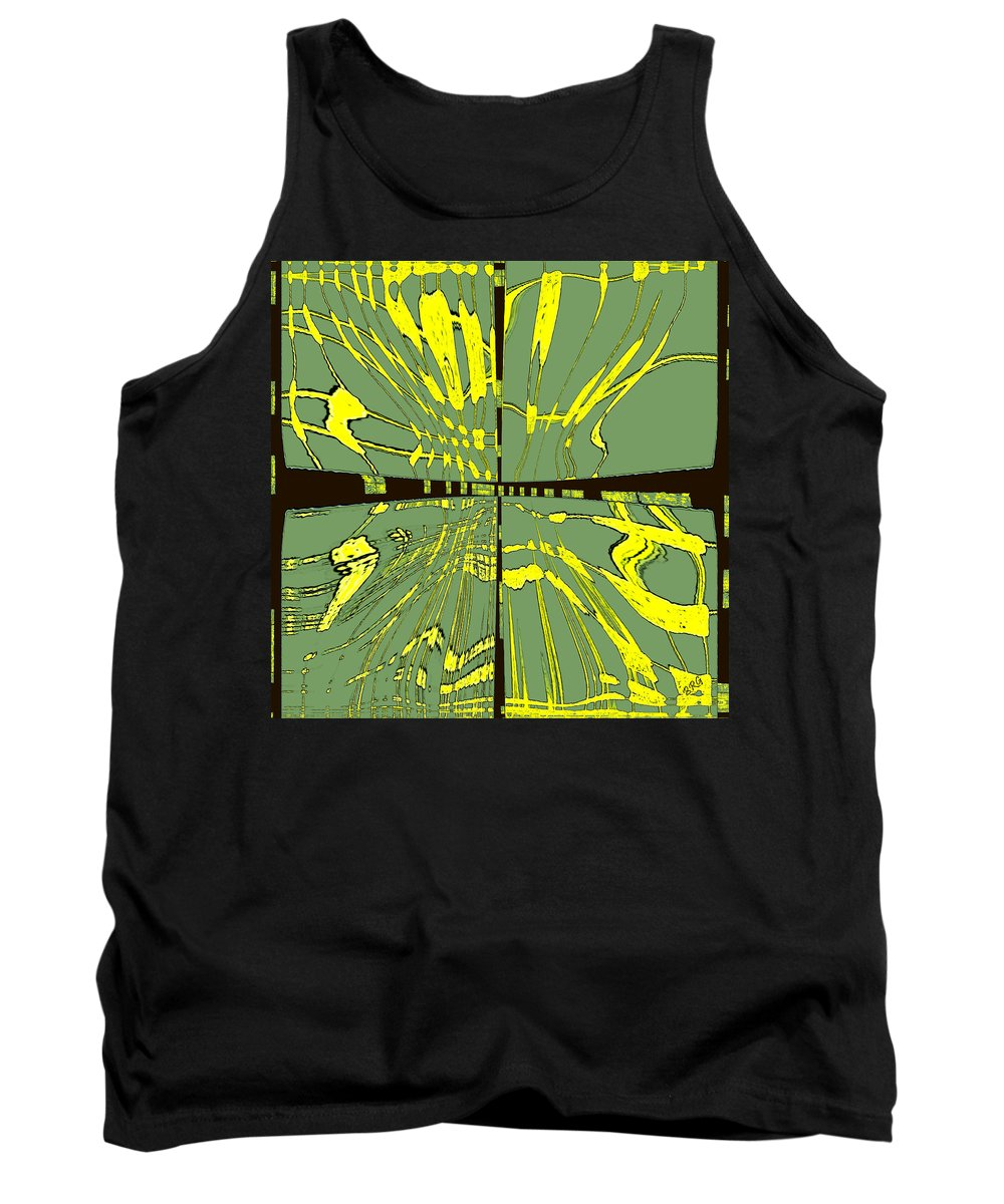 Abstract Tank Top featuring the digital art Dancing Waves by Ben and Raisa Gertsberg
