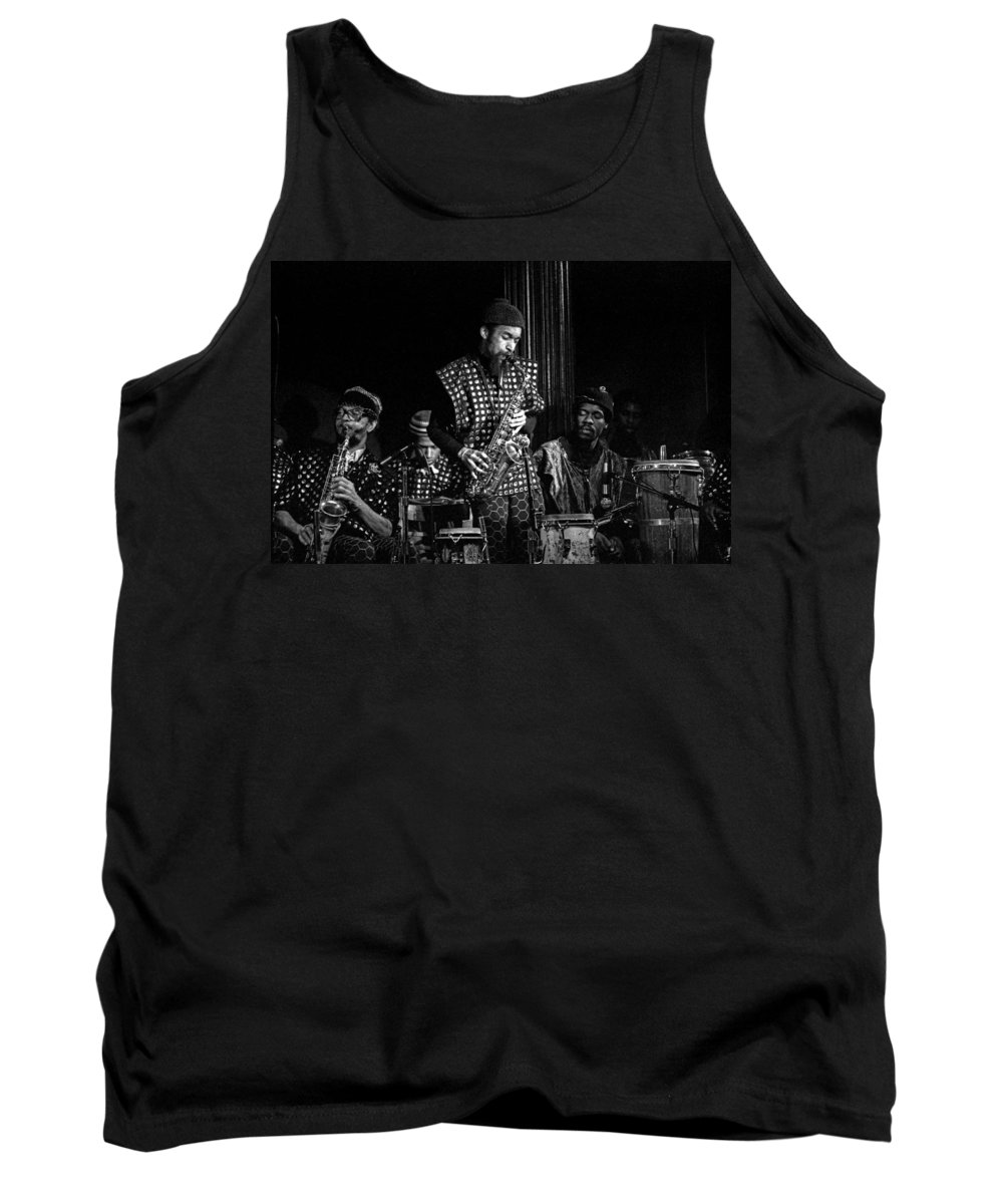 Jazz Tank Top featuring the photograph Danny Davis With Sun Ra Arkestra by Lee Santa