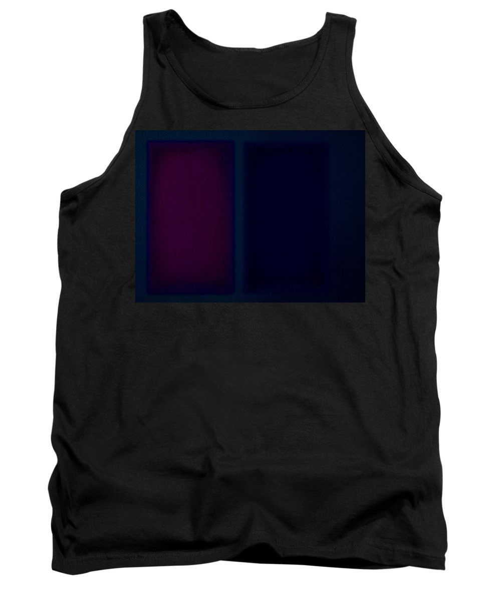 Rothko Tank Top featuring the painting Dark Blue by Charles Stuart