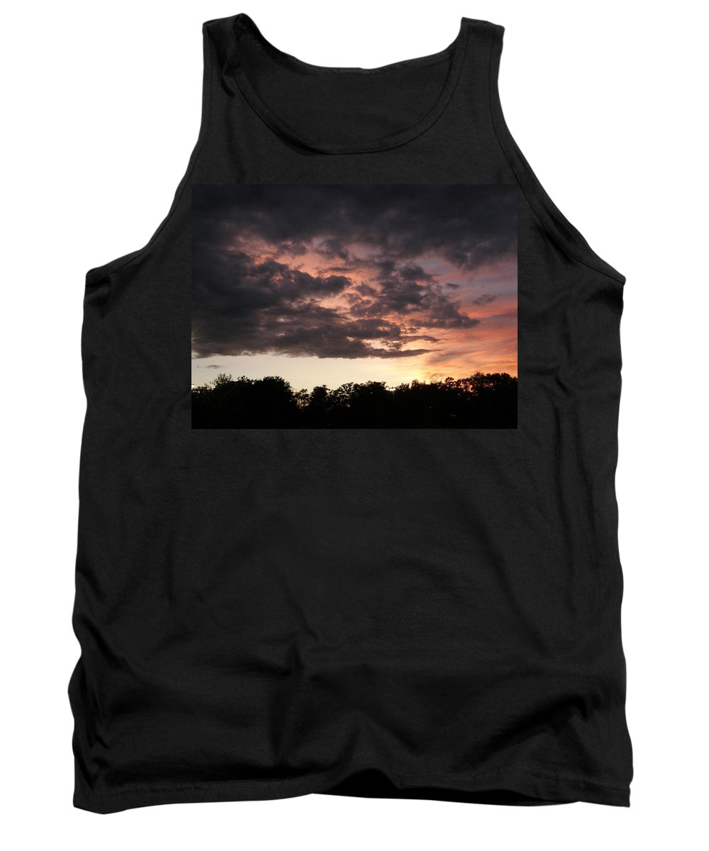 Clouds Tank Top featuring the photograph Dark Clouds In The Sky by Alice Markham