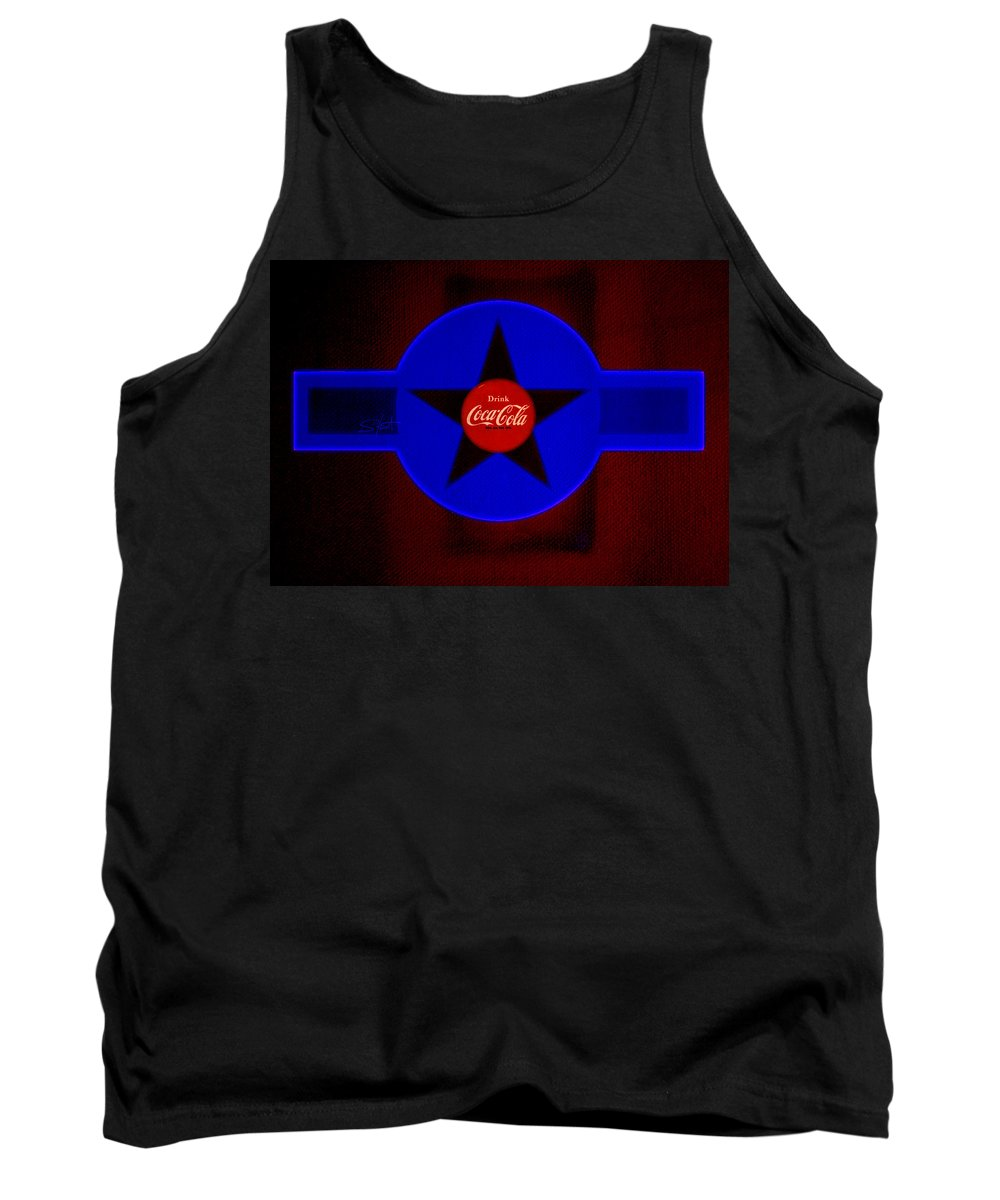 Label Tank Top featuring the painting Dark Red by Charles Stuart