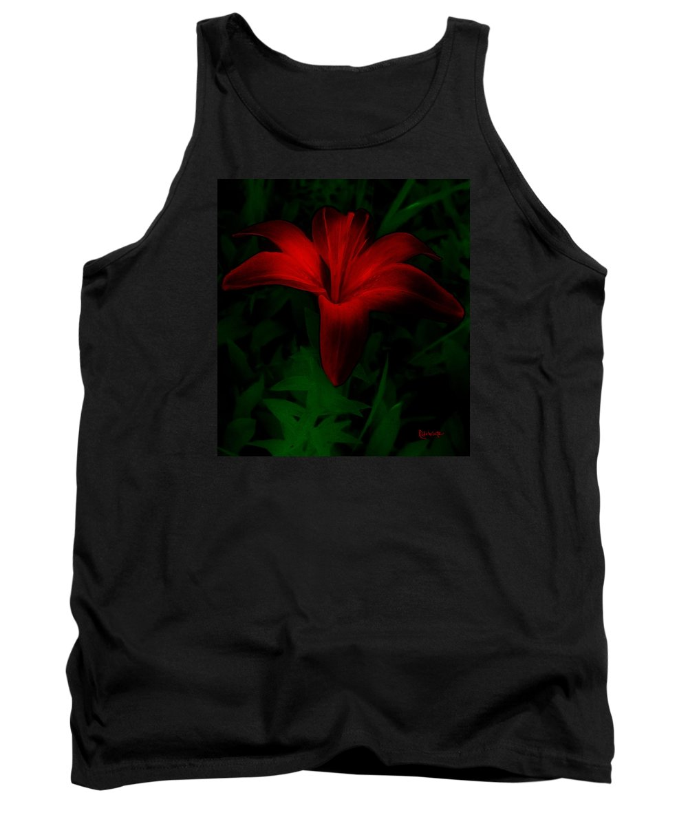 Lily Tank Top featuring the painting Dark Star by RC deWinter