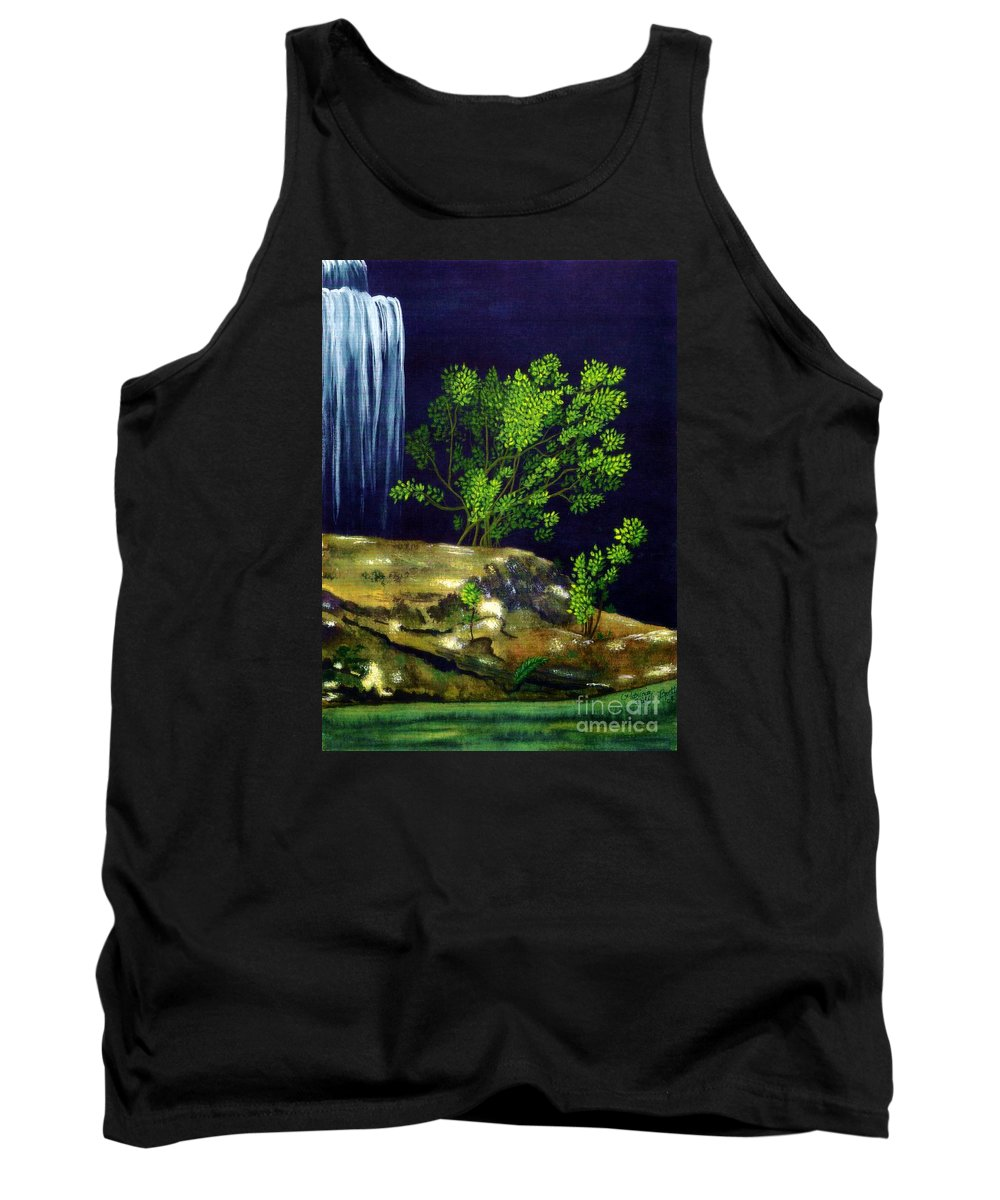 Fine Art Tank Top featuring the painting Dark Waters by Patricia Griffin Brett