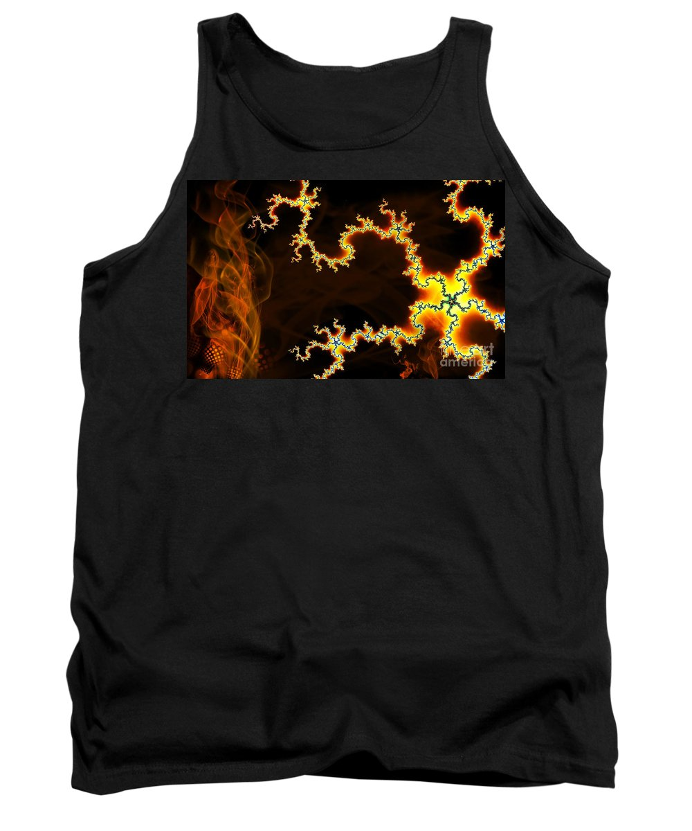 Clay Tank Top featuring the digital art Dark World by Clayton Bruster