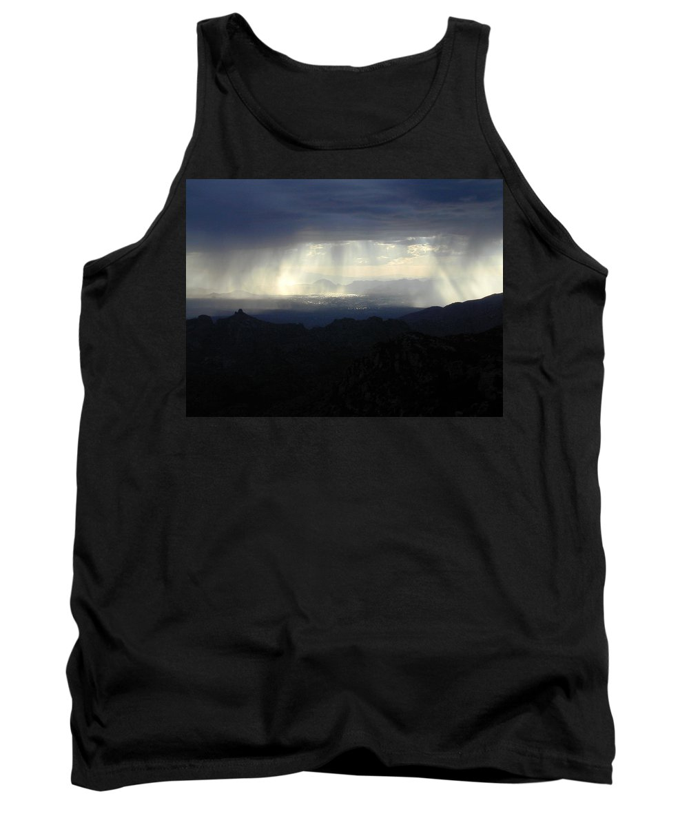 Darkness Tank Top featuring the photograph Darkness Over The City by Douglas Barnett