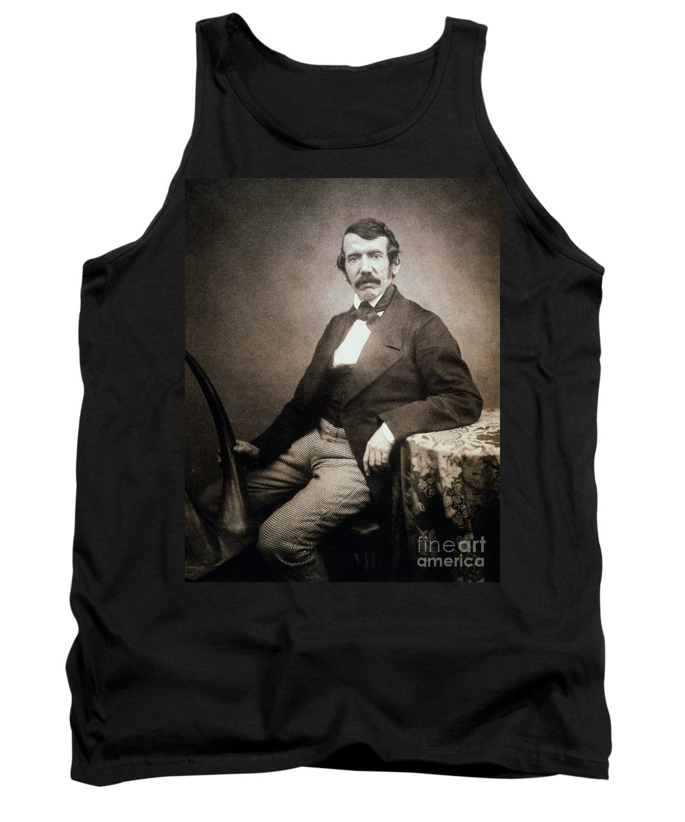 1864 Tank Top featuring the painting David Livingstone (1813-1873) by Granger