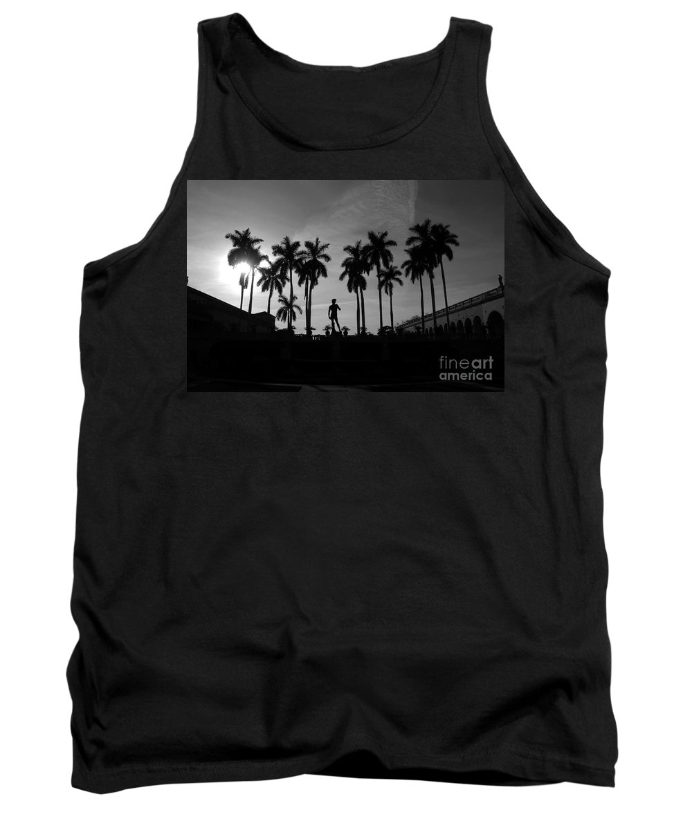 David Tank Top featuring the photograph David With Palms by David Lee Thompson
