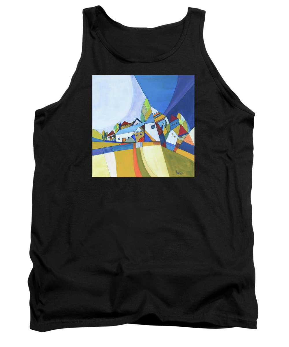 Acrylic Tank Top featuring the painting Dawn by Aniko Hencz