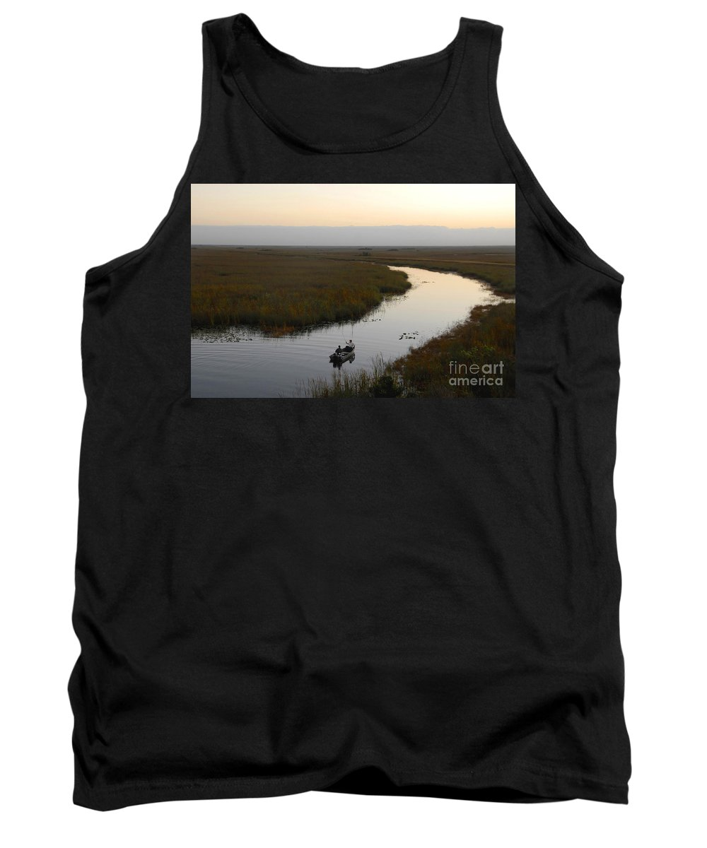 Fishing Tank Top featuring the photograph Dawn Everglades Florida by David Lee Thompson