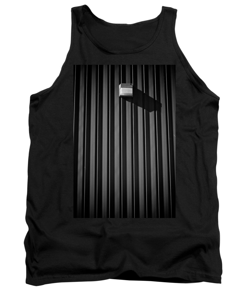 Black And White Photograph Tank Top featuring the photograph Day Light On Wall by Mike Oistad