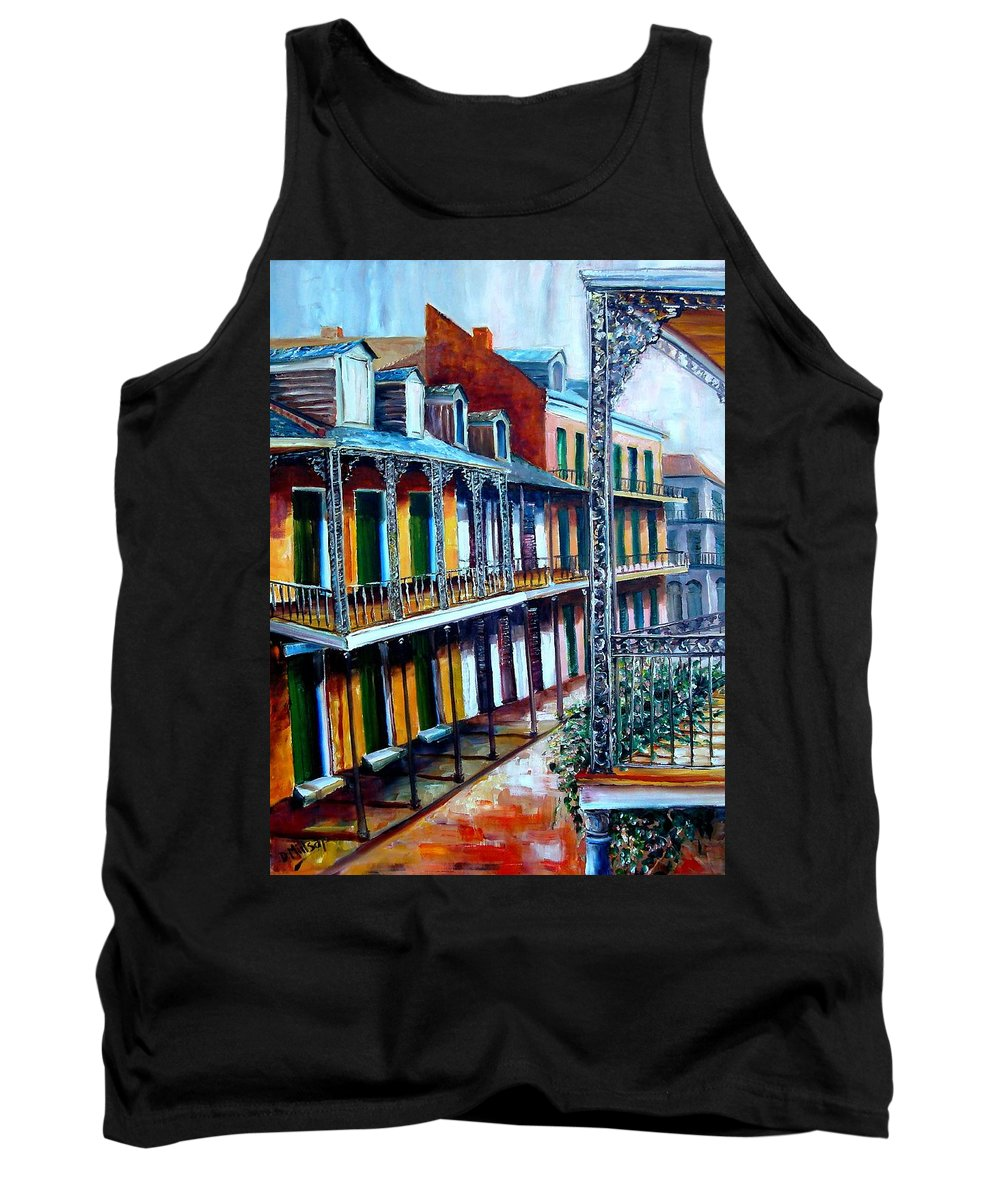 New Orleans Tank Top featuring the painting Daybreak On St. Ann Street by Diane Millsap