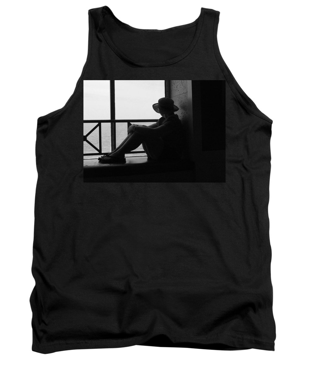 Black And White Tank Top featuring the photograph Daydreaming by Robert Meanor