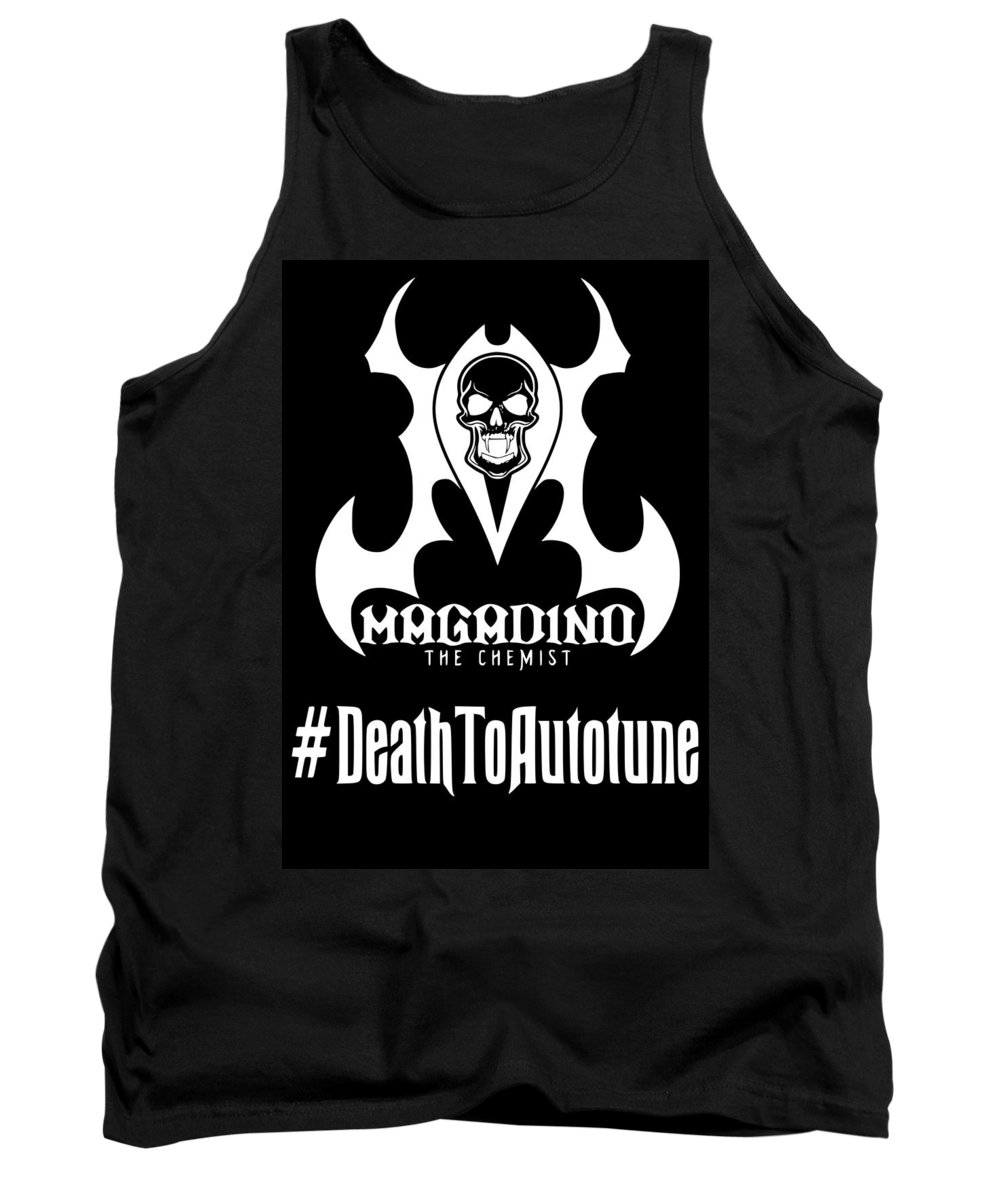 Tank Top featuring the digital art Death To Autotune by Eric Ness