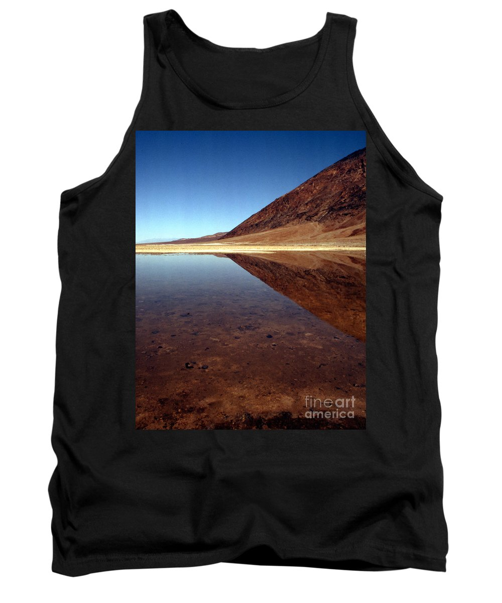 Desert Tank Top featuring the photograph Death Valley Lake by Norman Andrus