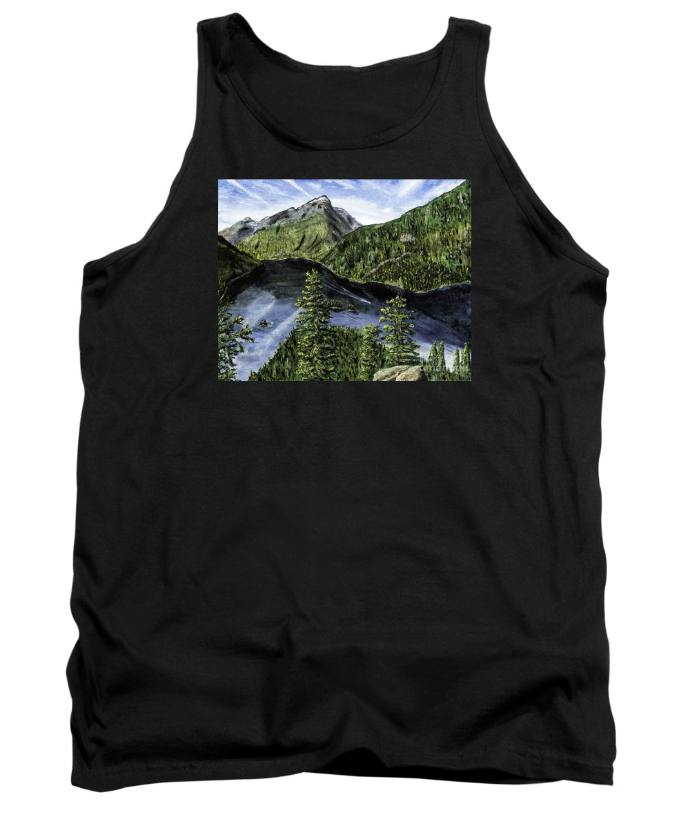 Timothy Hacker Tank Top featuring the painting Deception Pass Painting by Timothy Hacker