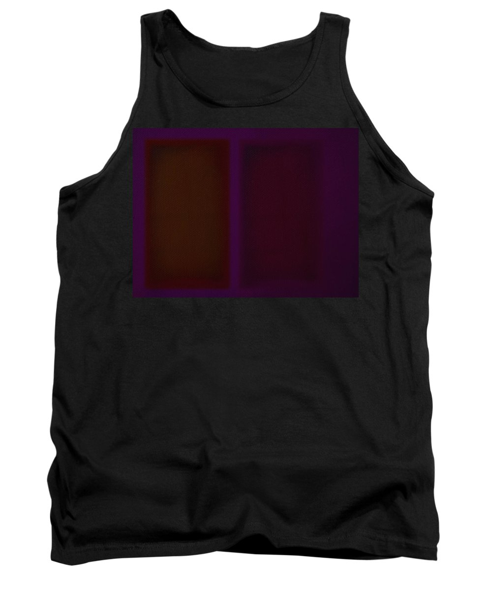 Rothko Tank Top featuring the painting Deep Purple II by Charles Stuart