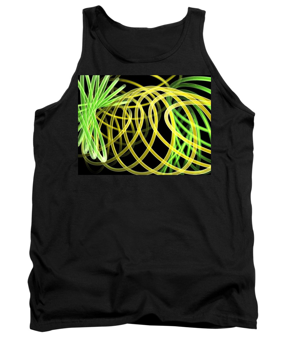 Green Tank Top featuring the digital art Deep Trance by Scott Piers